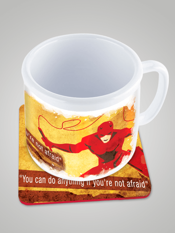 Marvel the Dare Devil Superhero Designer Mug and Coaster