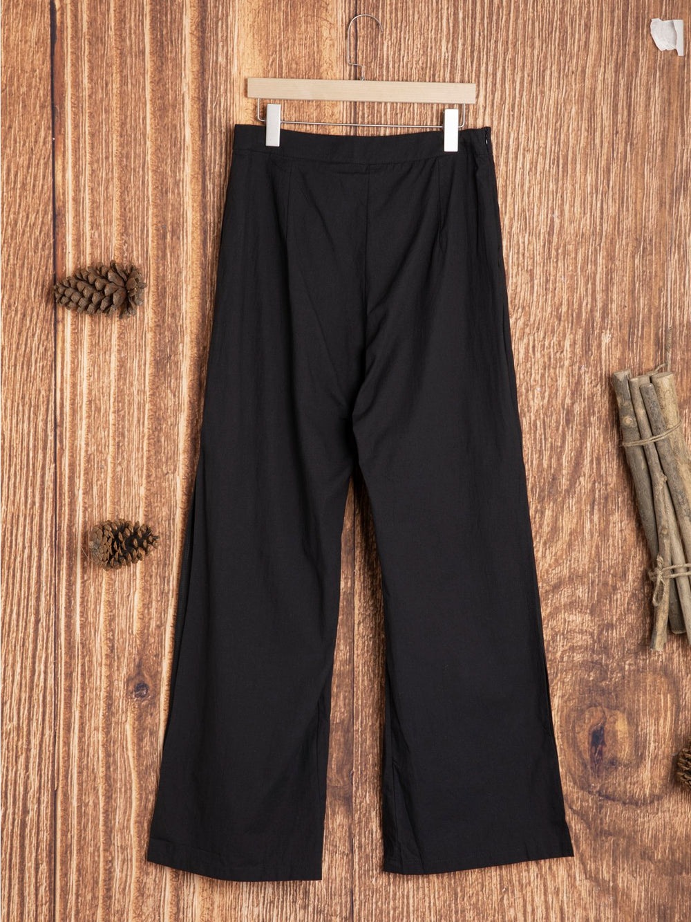 Solid Women Casual Cotton-Blend Bottoms