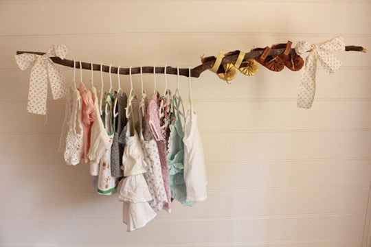 Growing Footprints Scandinavian Kids Room Inspiration Cloths hanger rail