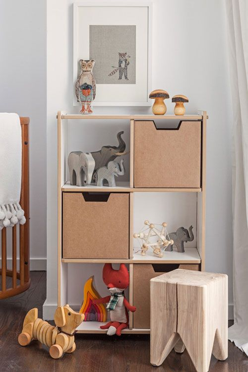 Growing Footprints Scandinavian Kids Room Inspiration wooden storage
