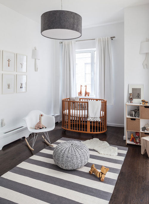 Growing Footprints Scandinavian Kids Room Inspiration wooden nursery