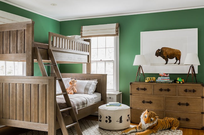 Growing Footprints Scandinavian Kids Room Inspiration Green Room