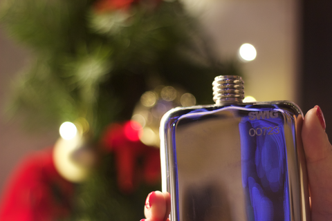 SWIG Hip Flask Christmas Engraving