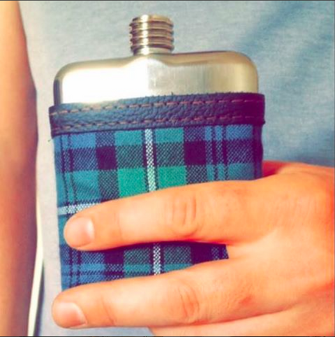 SWIG Hip Flasks custom tartan for your wedding