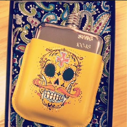 Swig hip flasks limited edition artist pouch