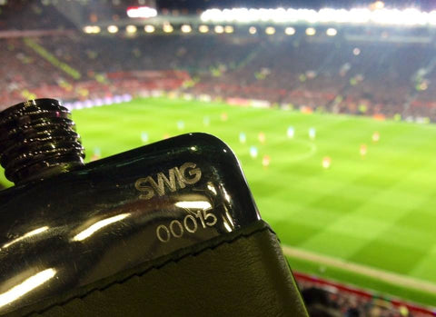 SWIG Hip Flask at Manchester United Old Trafford