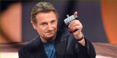 Liam Neeson hip flask