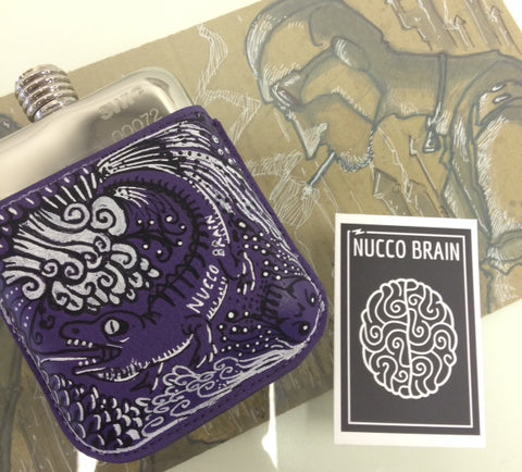 Nucco Brain SWIG Flasks Pouch