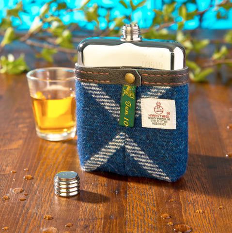 Harris Tweed Hip Flask Scottish
