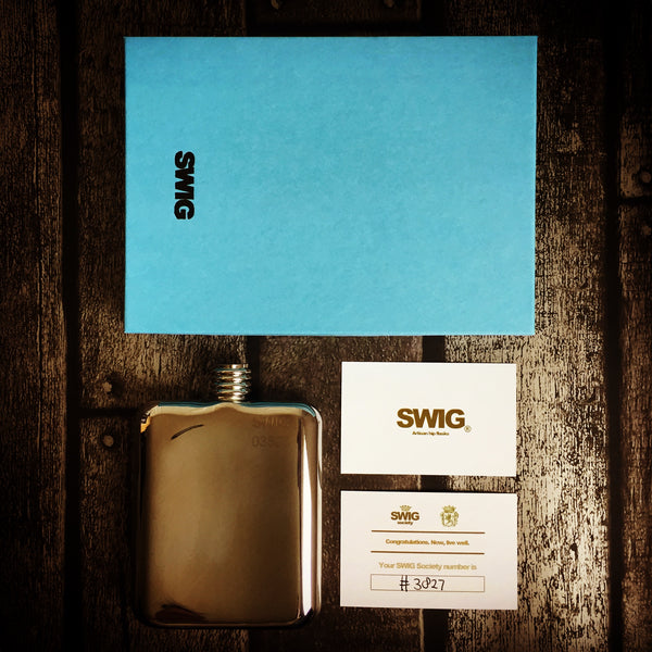 swig hip flask gift set with box