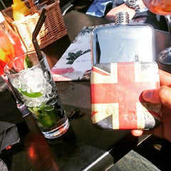 Executive Union Jack SWIG Flasks