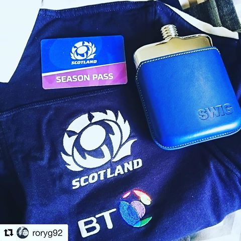 SWIG RWC Scotland Hip Flask
