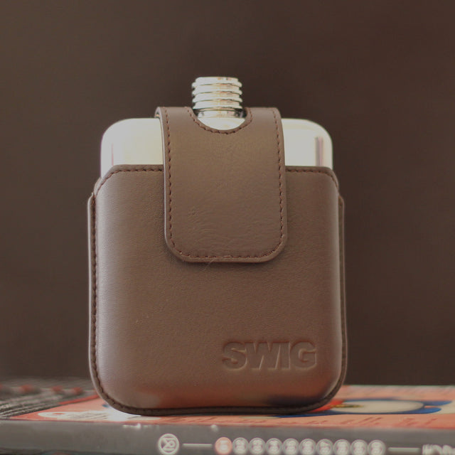SWIG Executive Magnetic Brown Flask