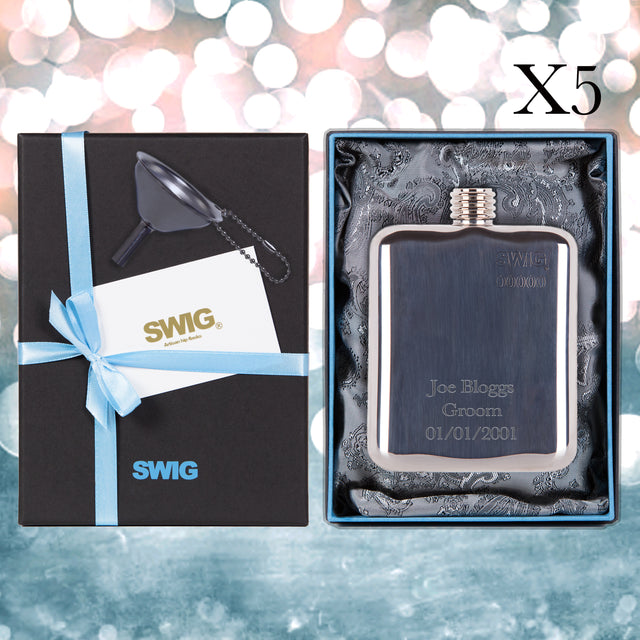 Hip Flask Wedding Bundle Gift Set SWIG _5