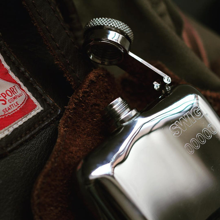 SWIG Hip Flask Hinged