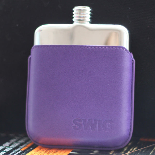 SWIG Executive Moulded Purple Flask