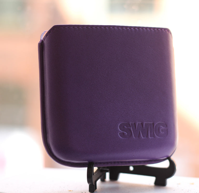 SWIG® Hip Flasks Executive Pouch Purple