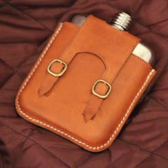Kangaroo Leather Hip Flask - | SWIG