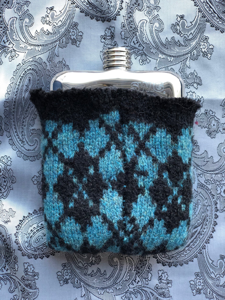 SWIG® Limited Edition Blue Black Wool Hip Flask