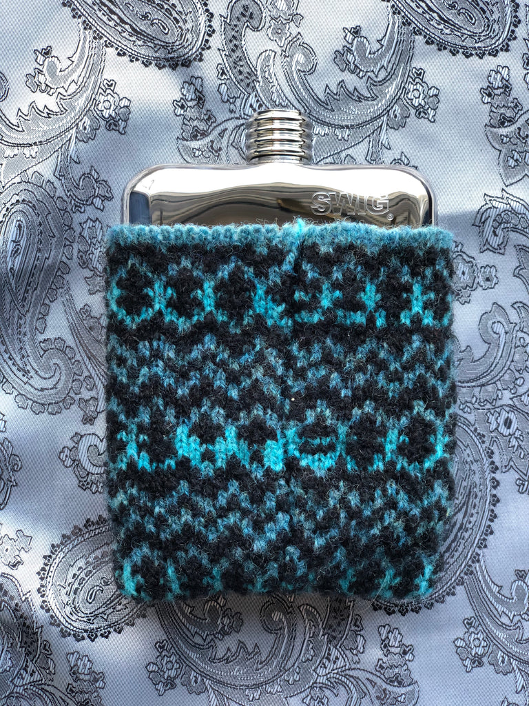 SWIG® Limited Edition Blue Wool Hip Flask