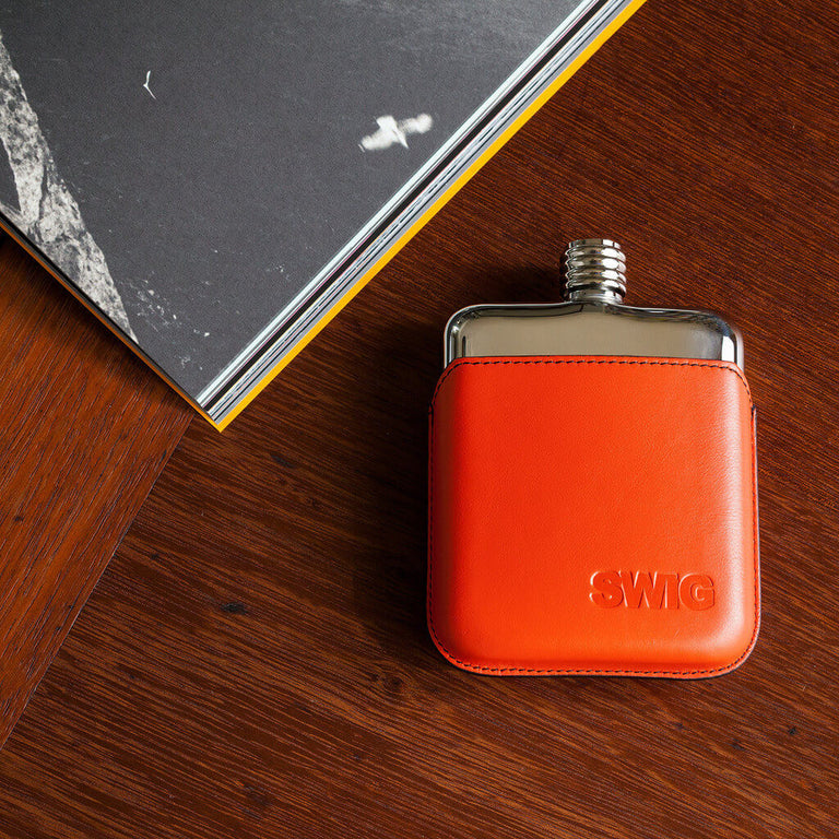SWIG Orange Executive Hip Flask - Book