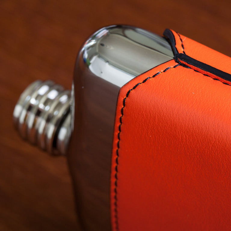 SWIG Orange Executive Hip Flask - Side
