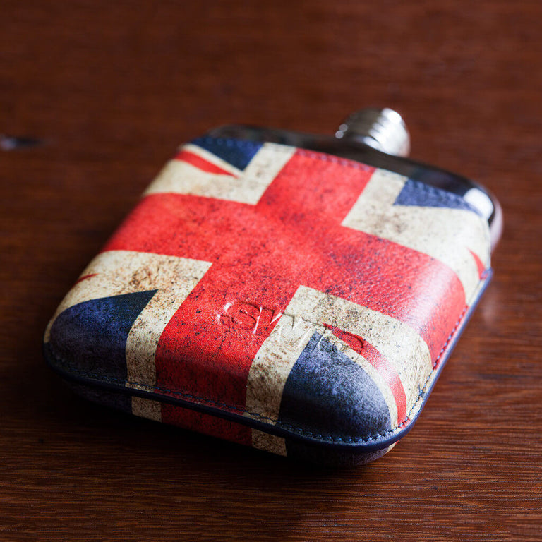 SWIG Union Jack Executive Flask - Down