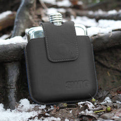 SWIG Black Magnetic Executive Hip Flask - Front