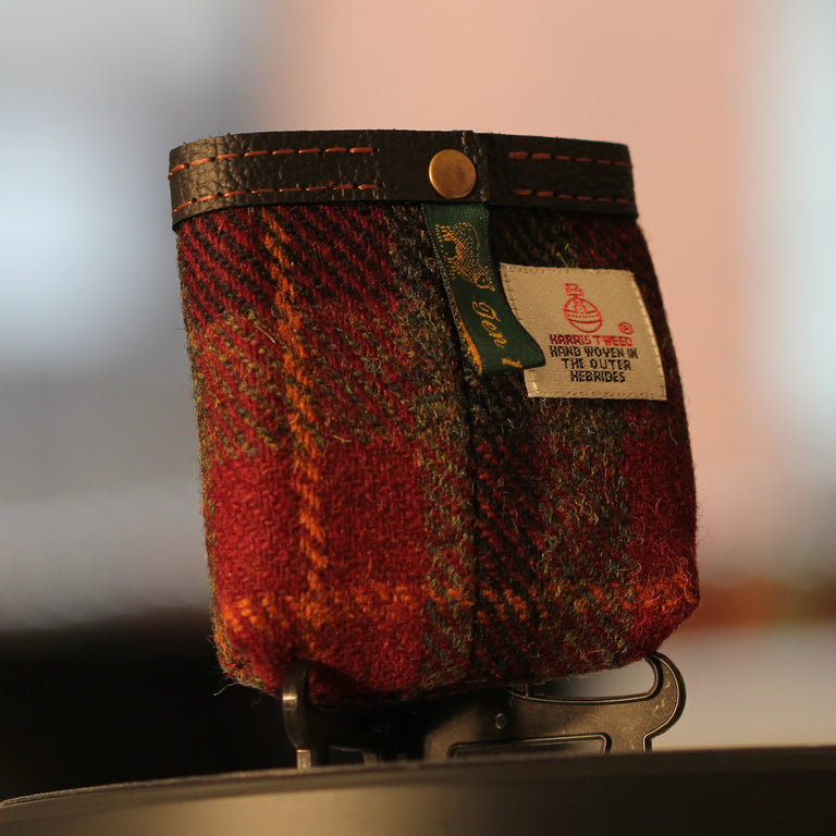 SWIG® Hip Flasks Harris Tweed Pouch (Red)