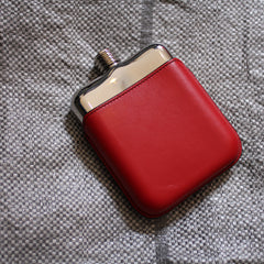 SWIG Executive Moulded Red Flask