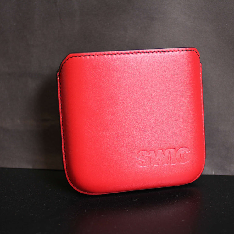 SWIG® Hip Flasks Executive Pouch Red