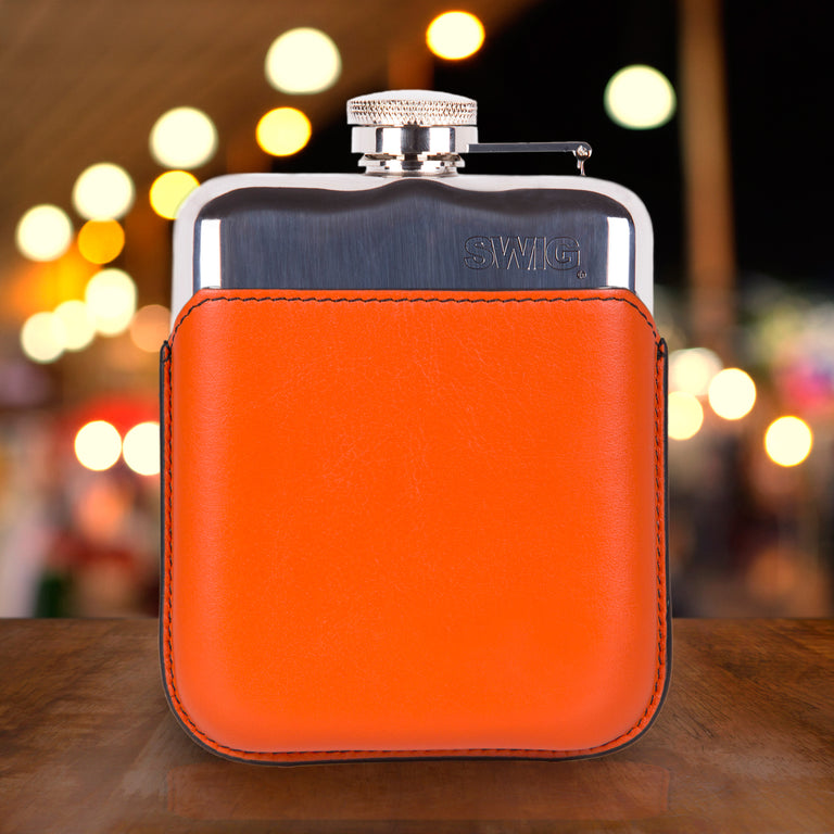 SWIG Hip Flasks Capped Hip Flask - Executive Orange