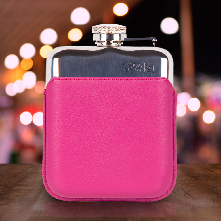 SWIG Hip Flasks Capped Hip Flask - Executive Pink