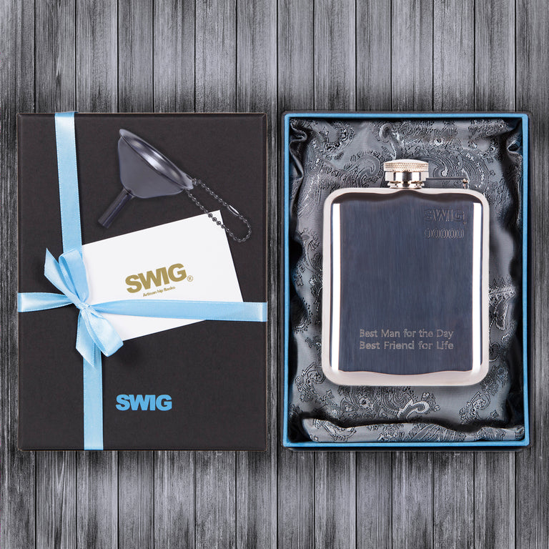 SWIG Hip Flasks Capped Gift Set