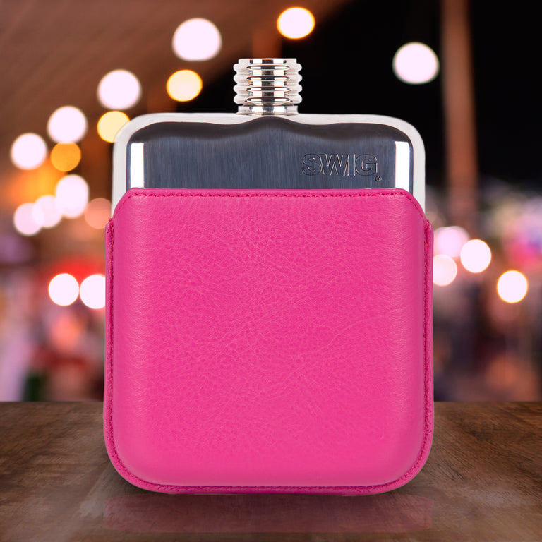 SWIG Pink Executive Hip Flask- Back