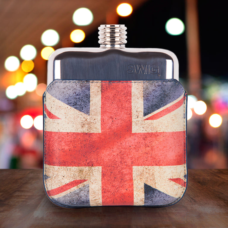 SWIG Union Jack Executive Flask - Front