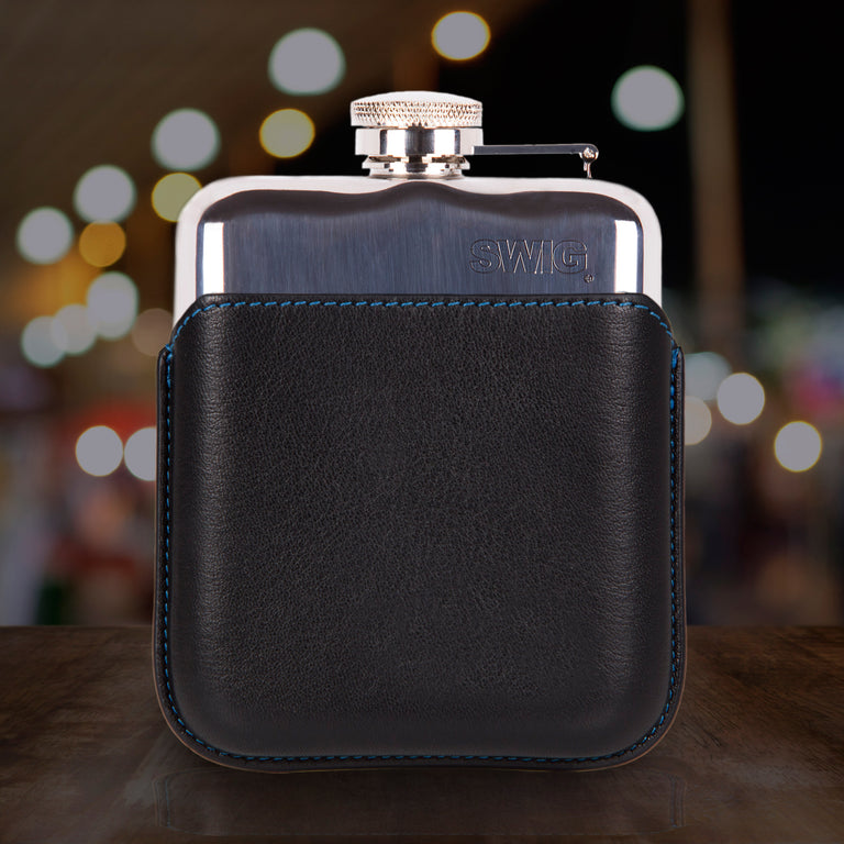 SWIG Hip Flasks Capped Hip Flask - Executive Black