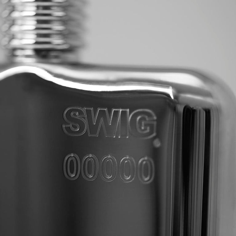 SWIG Hip Flask Close Up