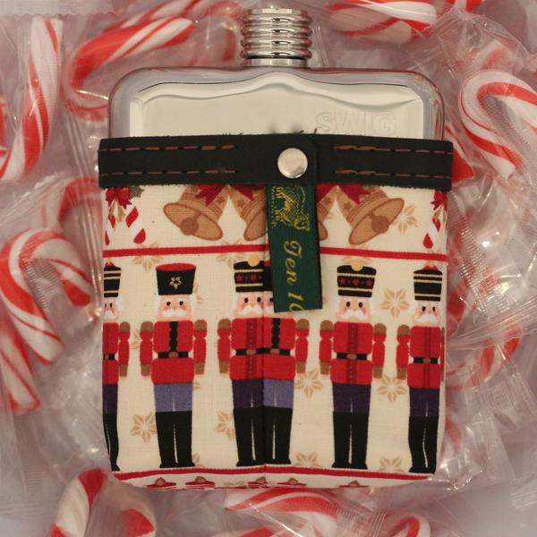 SWIG Hip Flask Nutcracker Christmas Flask - Front