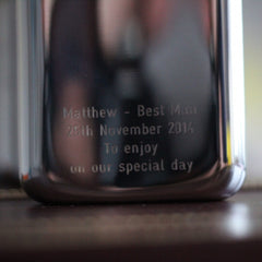 SWIG Hip Flask Engraving