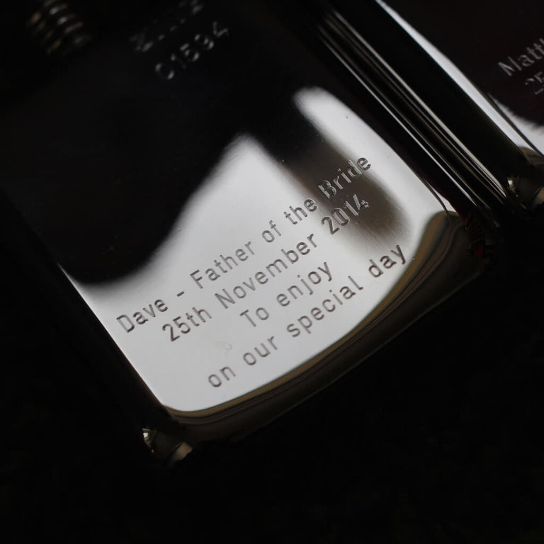 Engraving Hip Flask SWIG - message