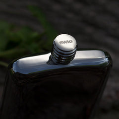 SWIG Executive Magnetic Black Flask