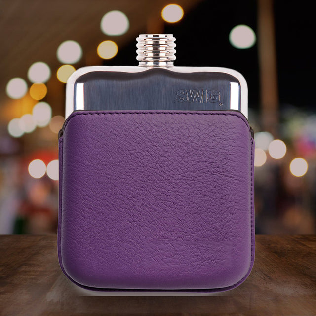 SWIG® Hip Flasks Executive Purple Hip Flask