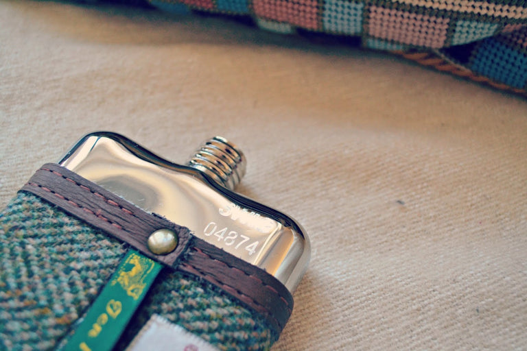 SWIG® Harris Tweed Brown Hip Flask