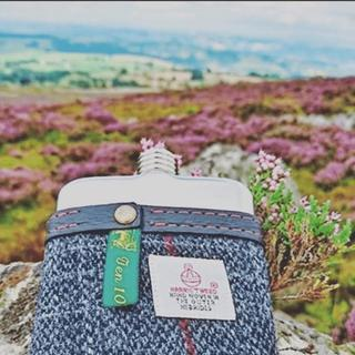 Swig moments 1 - harris tweed hip flasks