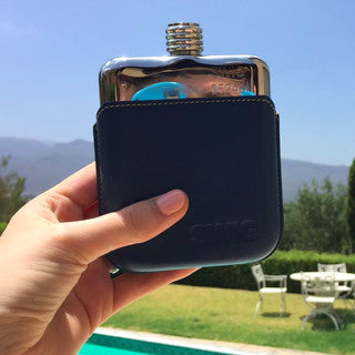 Swig moments 13 - engraved leather flask