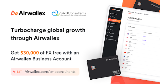 Get $30,000 of free FX with our partner Airwallex