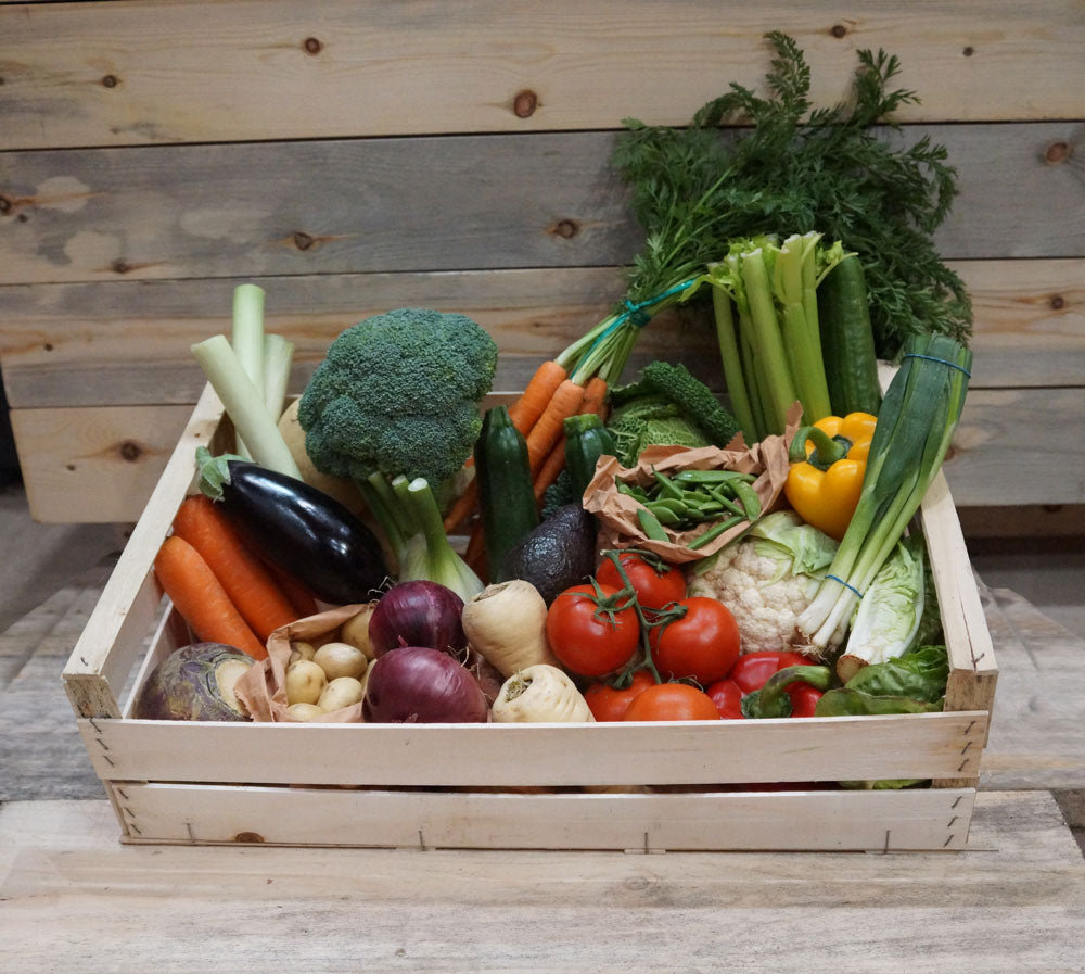 I've just taken delivery of my first box of organic vegetables.