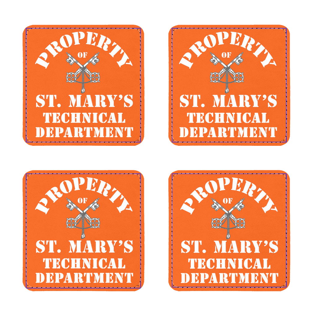 Property of St Mary's Technical Department (UK) Coasters Pack of Four - Jodi Taylor