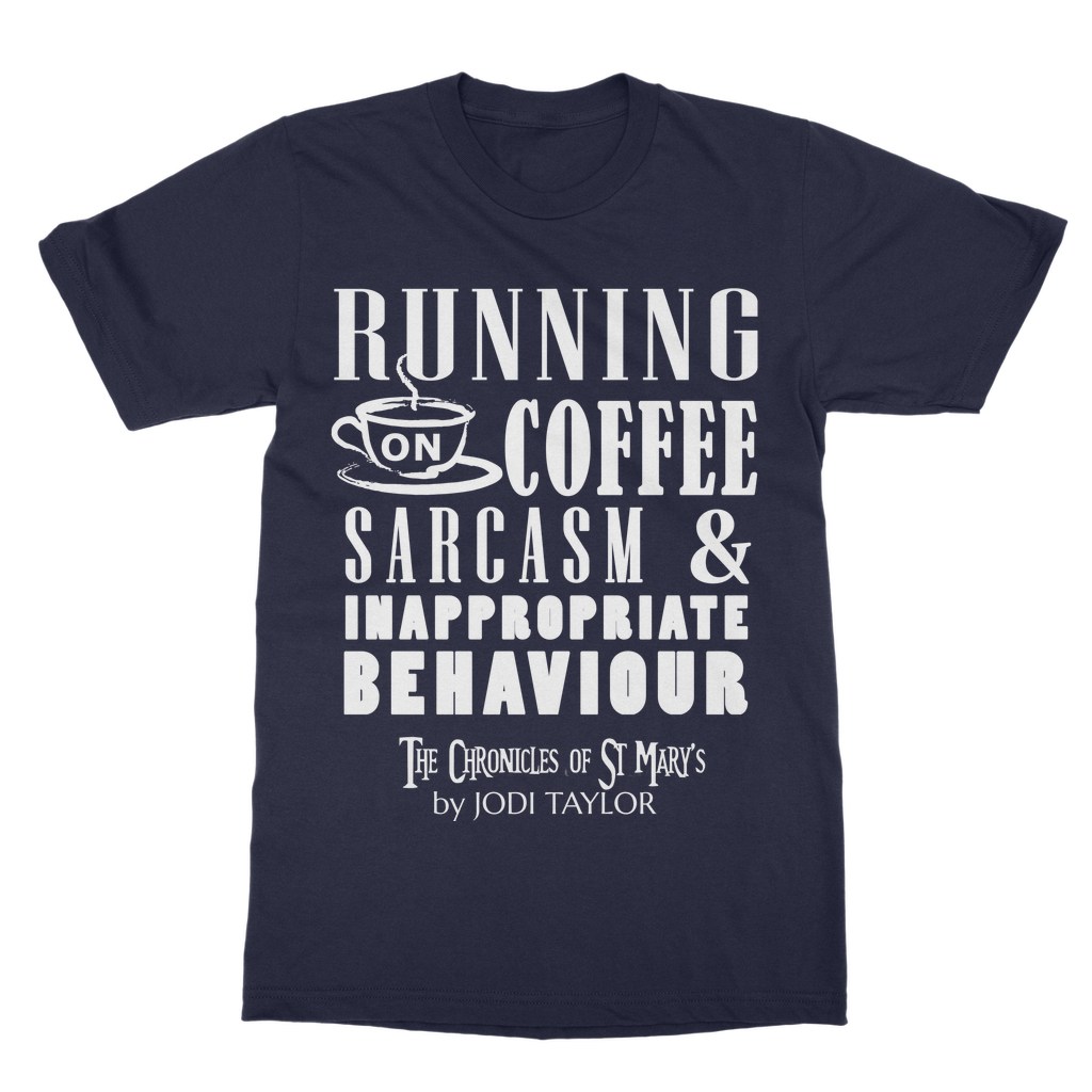 Running on Coffee, Sarcasm and Inappropriate Behavior (UK) T-Shirt Dress - Jodi Taylor